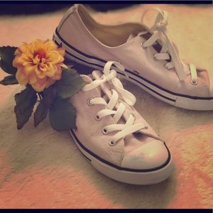 Pink Converse All Star sneakers size 8
